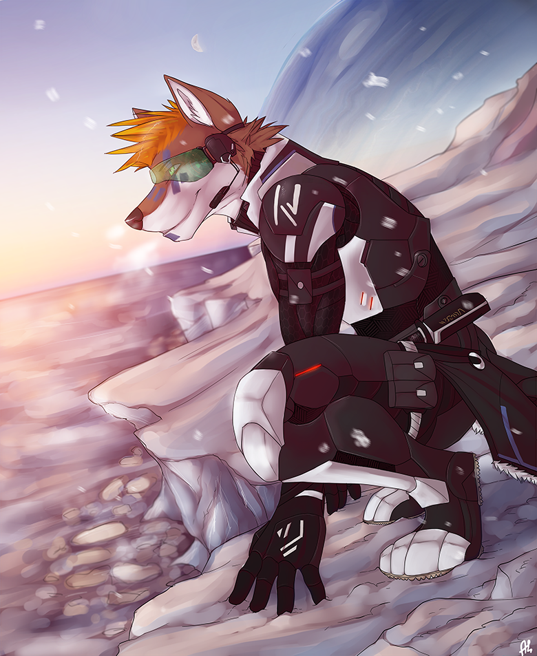 Anthro Arctic Wolf Arctic wolf by Solaxe ...