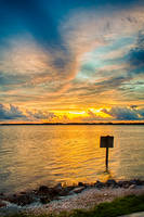 Sun Over Harbor by cdpstudios