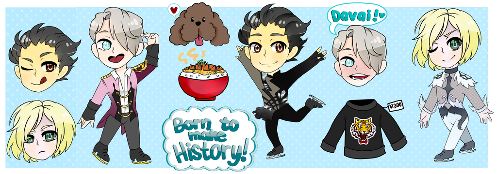 [FA]: Yuri on Ice!!! Sticker Sheet by SimplyDefault