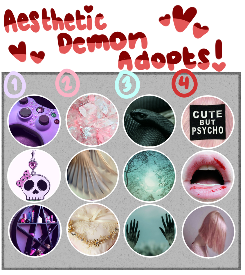 [Adopts]: Aesthetic Demon Adopts (CLOSED) by SimplyDefault