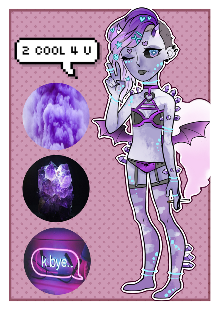[Adopts]: Neon and Smoke by SimplyDefault