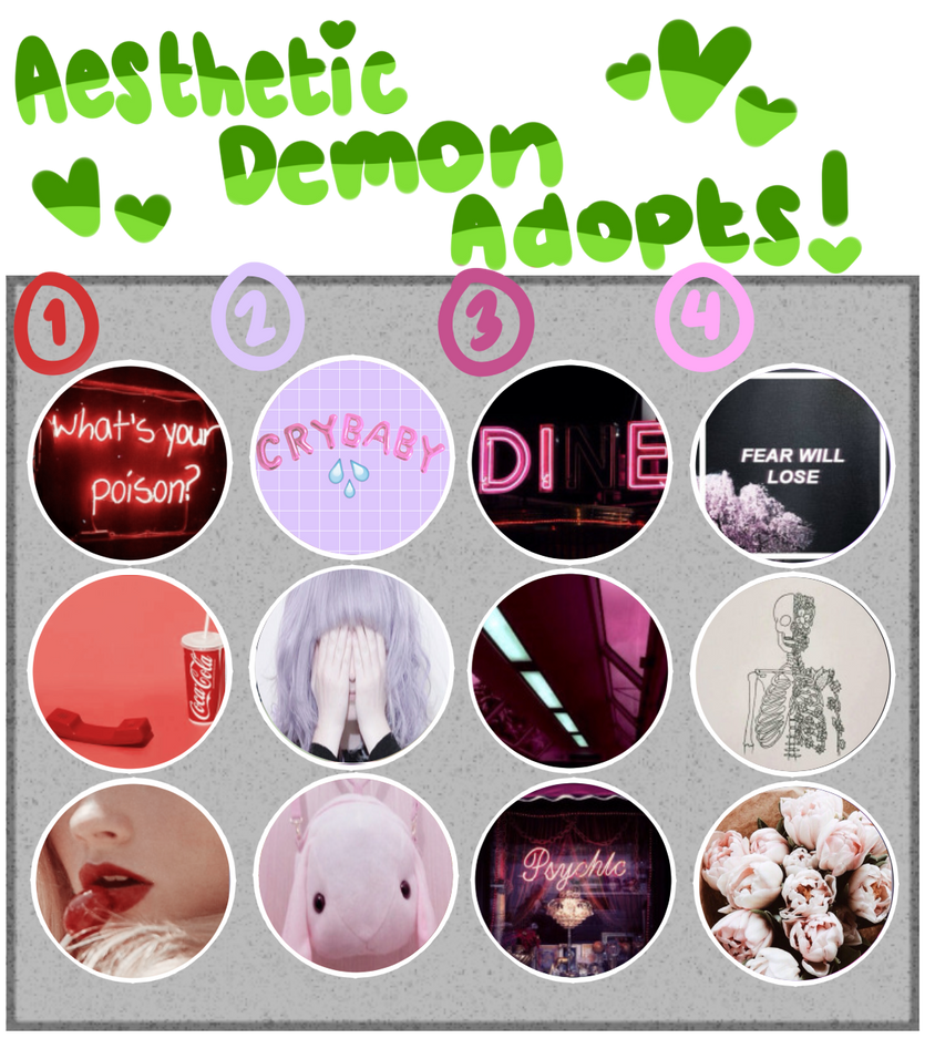 [Adopts]: Aesthetic Demon Adopts 3 (CLOSED) by SimplyDefault