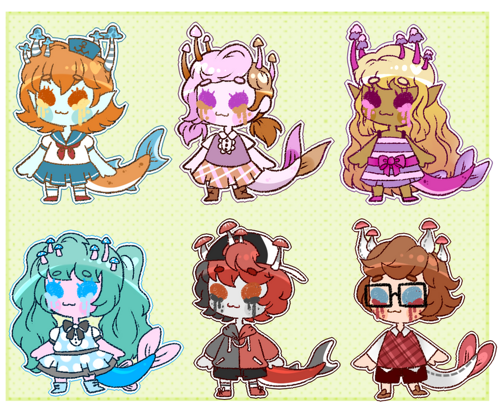 [Adopts]: Tiny Fungicakes [2/6 OPEN] by SimplyDefault
