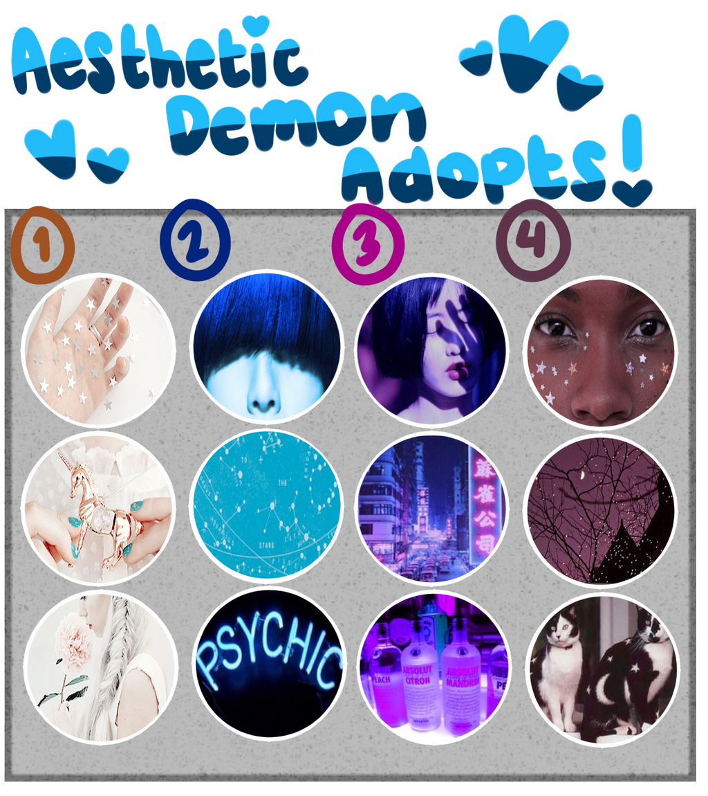 [Adopts]: Aesthetic Demon Adopts 6 (CLOSED) by SimplyDefault