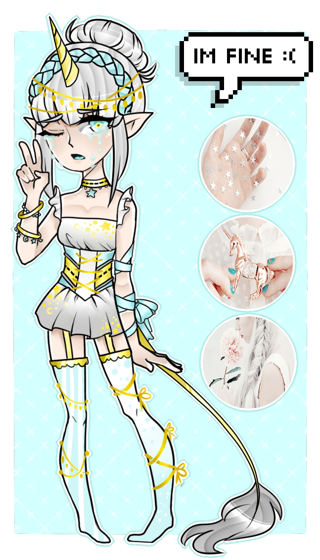 [Adopts]: Crystal Unicorn by SimplyDefault