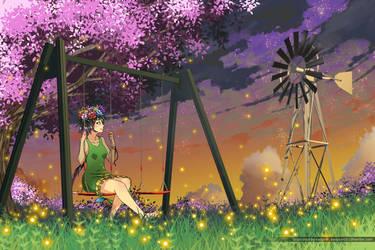 Sky fireflies by eadgear