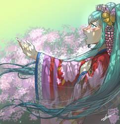 Miku Hatsune Fanart by eadgear
