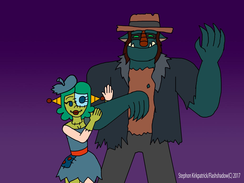 Pachi and Rojo: Misfit Monsters of Love by Flashshadow