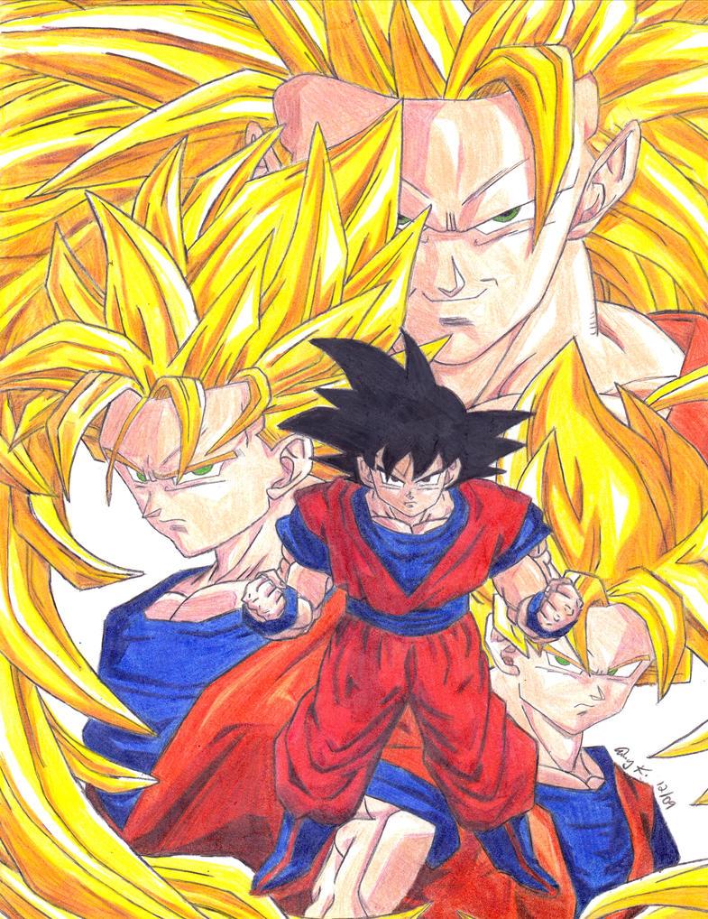Goku Super Saiyan Forms by forbiddenharmony7 on DeviantArt