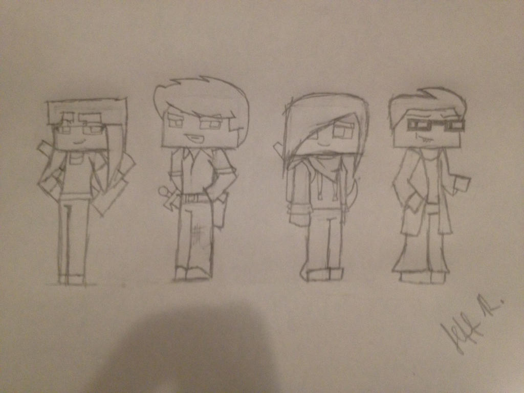 Minecraft Characters sheet 1: The main cast by Wolfblade-Numbs