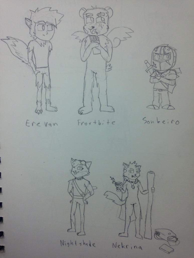 SpellBound- INITIAL CONCEPT/CHARACTERS by Wolfblade-Numbs