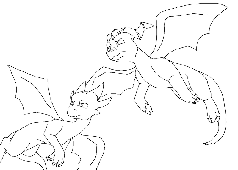 spyro and cynder coloring pages - photo#6
