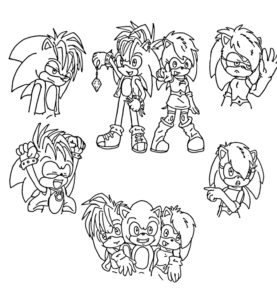 Sonic Manic Coloring Pages Freecoloring4u Com Sonic Underground Coloring Pages