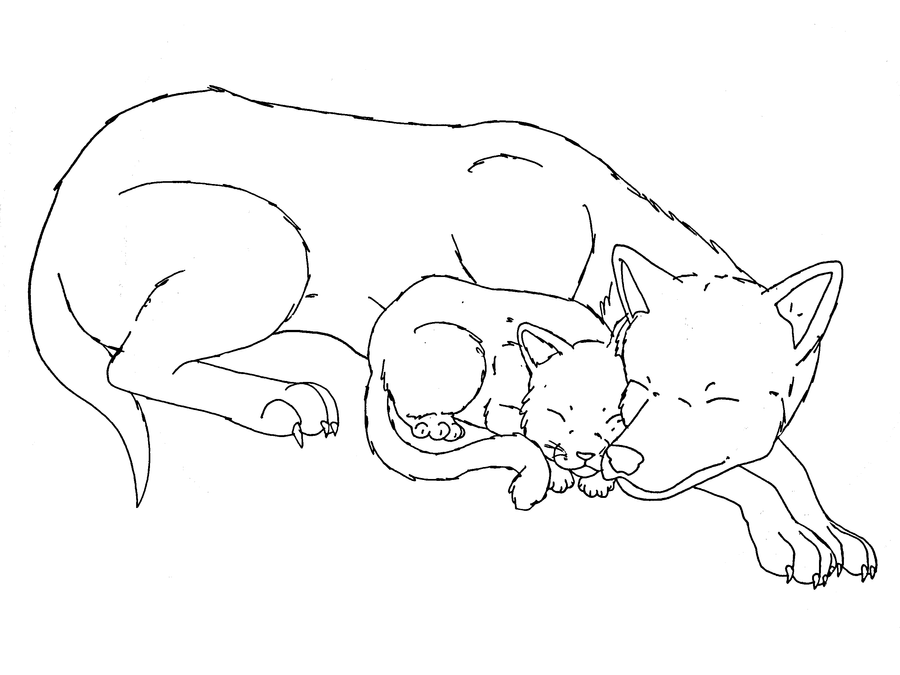 Cat and dog sleeping base by midnightflaze on deviantart cat and dog sleeping base by midnightflaze ccuart Gallery