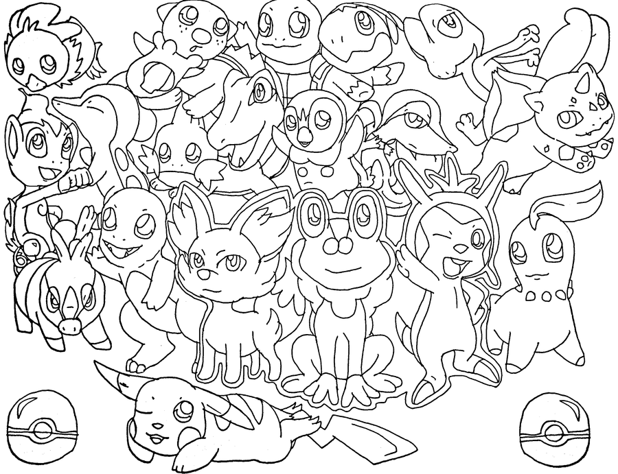 Coloring pictures of pokemon all coloring page for All pokemon coloring pages
