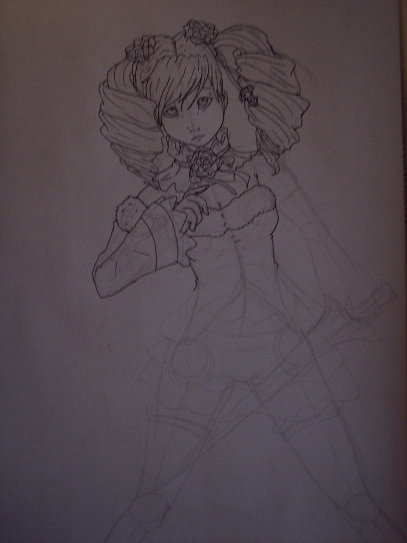 Amy somewhat inked sketch xD by Midnightflaze