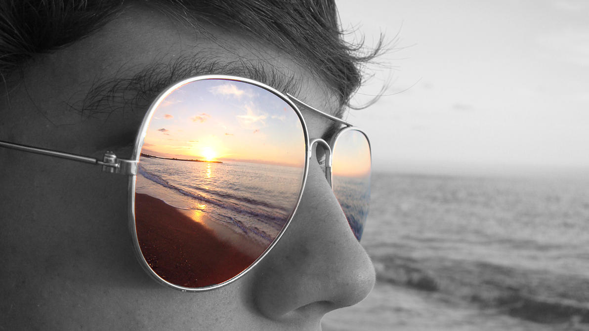 Sunset in my glasses by CoffeeDoctor