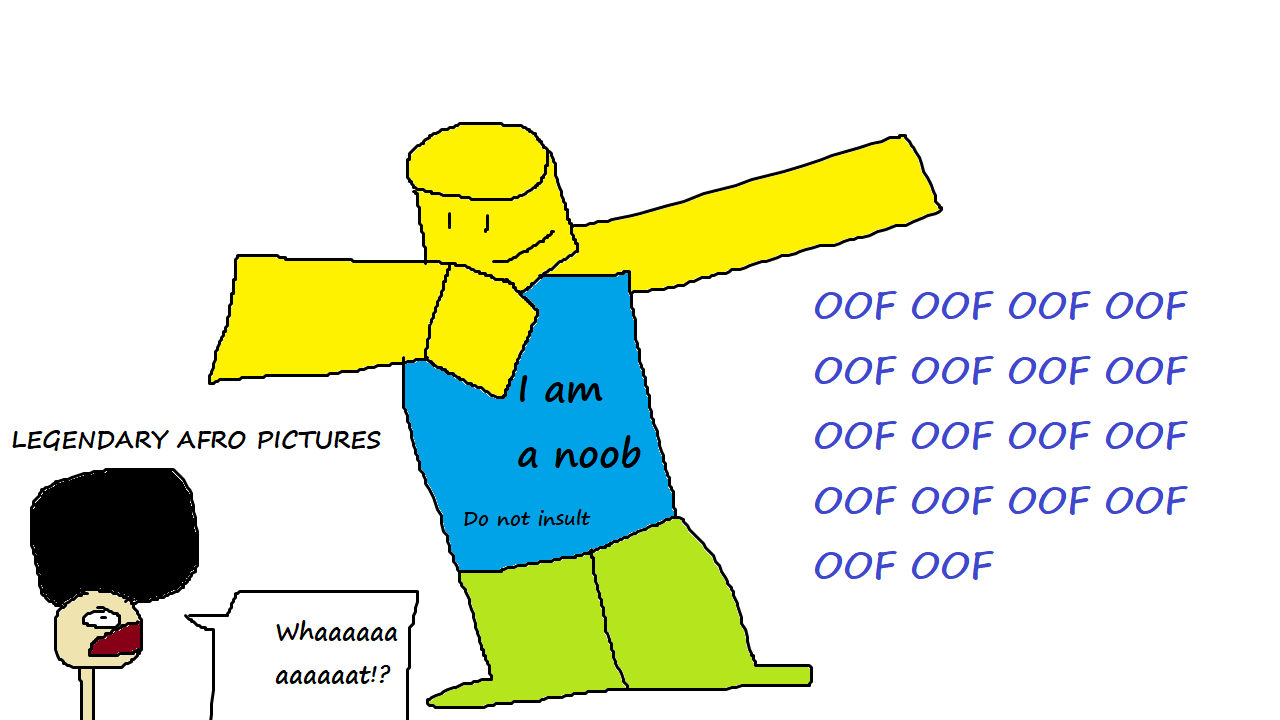 Roblox Noob Dabbing Ft Legendary Afro By Zachmanawesomenessii On