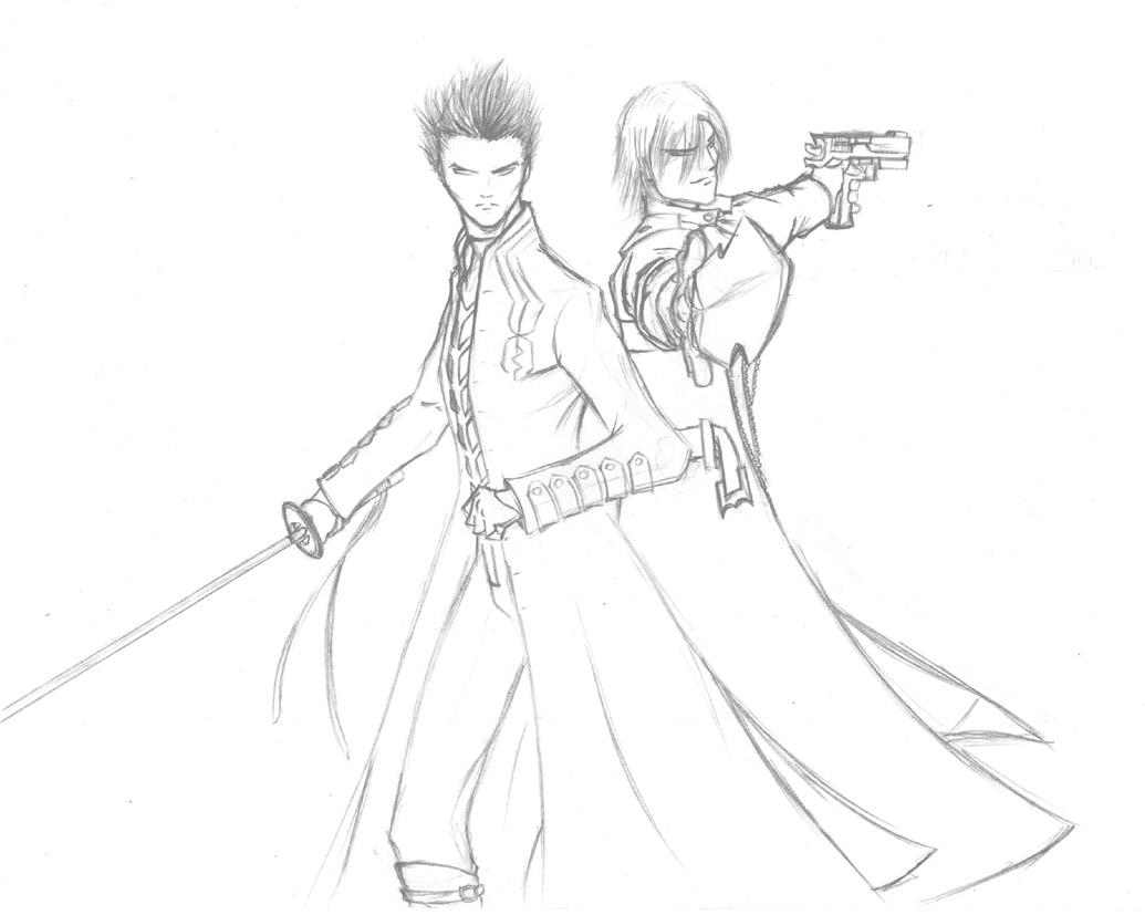 devil may cry coloring pages - photo#19