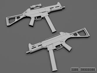Unskined HK UMP 45 by TheRealSlimPickins