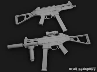 Unskinned UMP 45_2 by TheRealSlimPickins