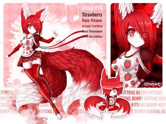 Strawberry Foxy Adopt #14 [Close] by Moon-Yard