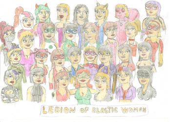 Full Legion of Elastic Women by RockyRock76