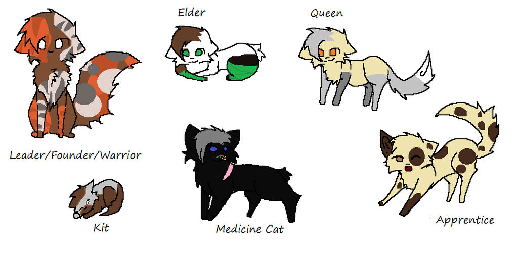 Some Cats Of Sunriseclan by FrizzledLemons on DeviantArt