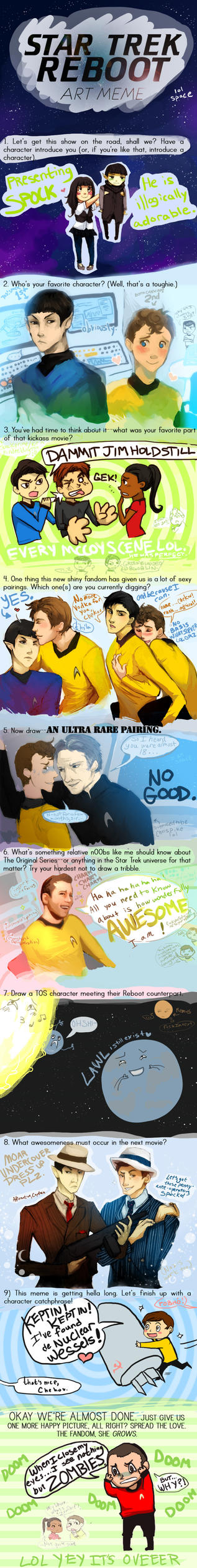 STAR TREK REBOOOOOT by paperlait