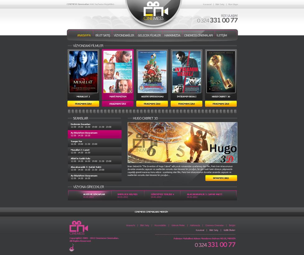 Cinema Hall Web Interface Design by mansonloverz on DeviantArt