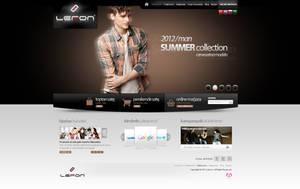Lefon Company Web Interface Design by mansonloverz