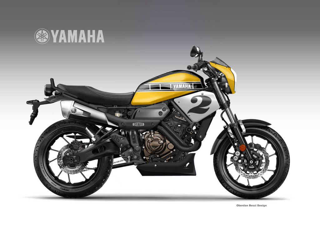 YAMAHA XSR 700 COOLEST BROTHER American Roadster by obiboi
