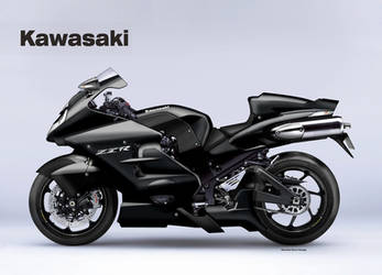 KAWASAKI ZZR 1600 UNLIMITED BLACK by obiboi
