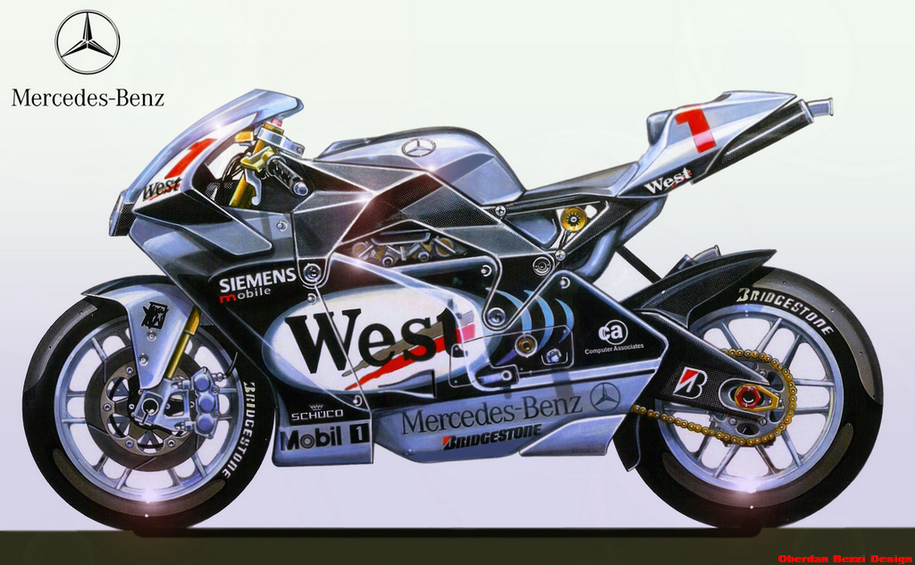 Mercedes benz motogp by obiboi on deviantart for Mercedes benz motorcycle