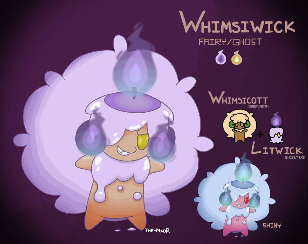 Whimsiwick, the Cotton Candle Pokmon by The-MadR
