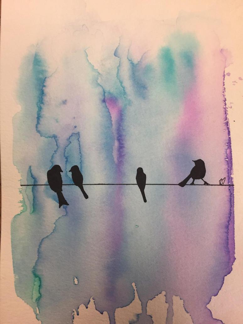 Wire Bird Silhouette    by gothyghosty