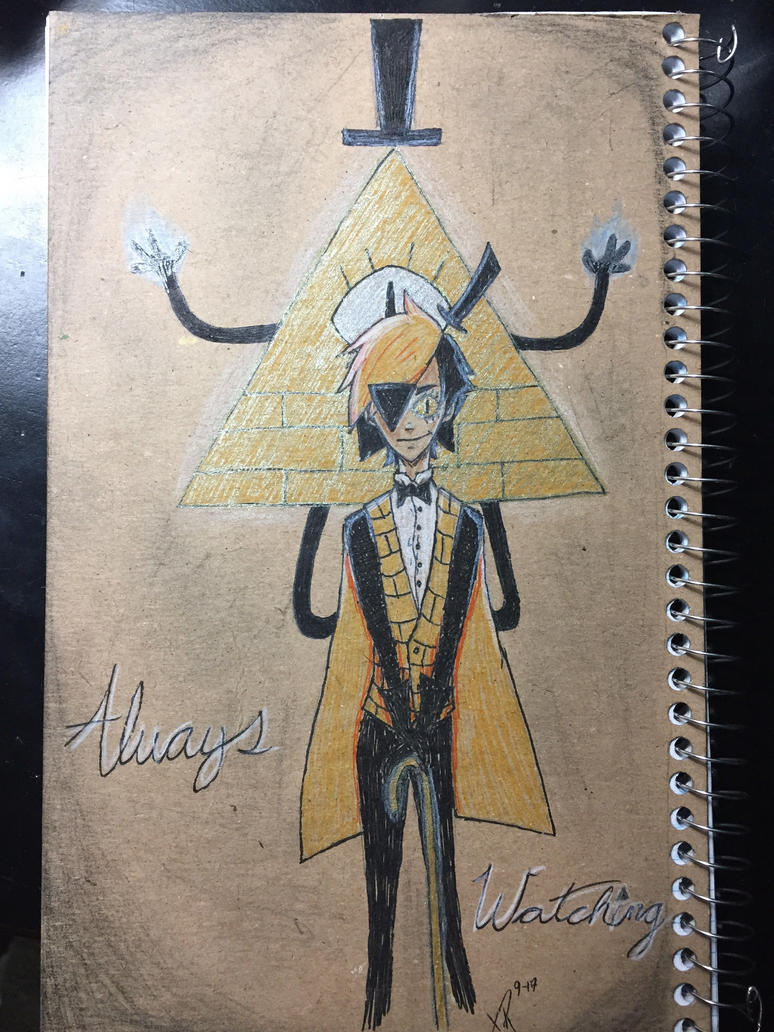 Bill Cipher Notebook Backing by gothyghosty