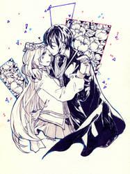 Commission: Derick and Sayuri by yamashyn