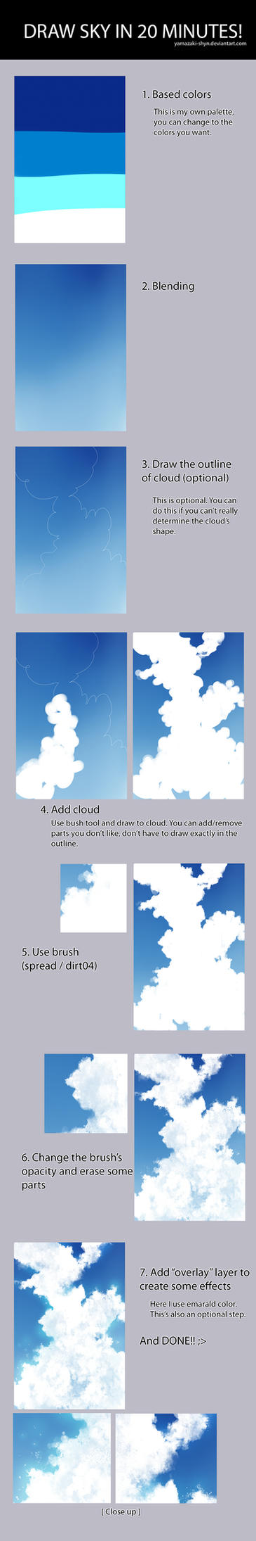 Tutorial: How to draw sky in 20 minutes [SAI] by yamashyn