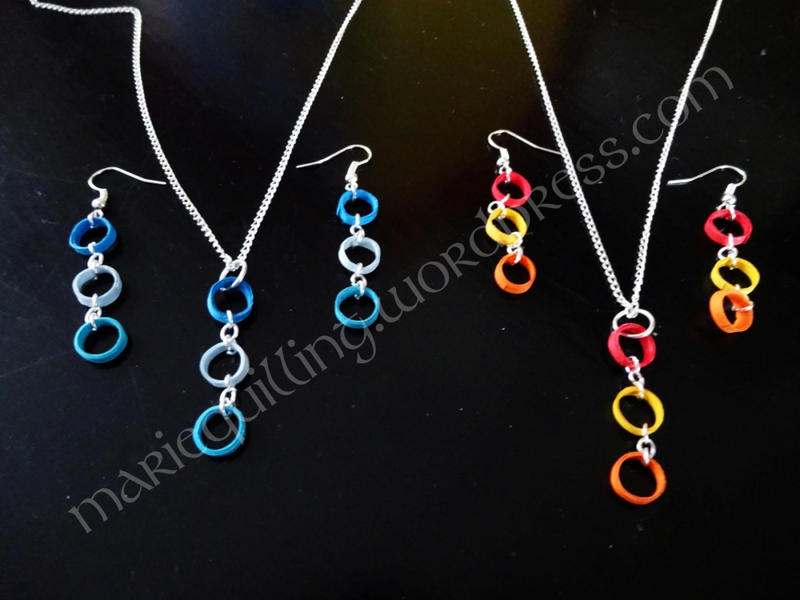 Quilling Jewellery Necklace Quilling Necklace And Earring