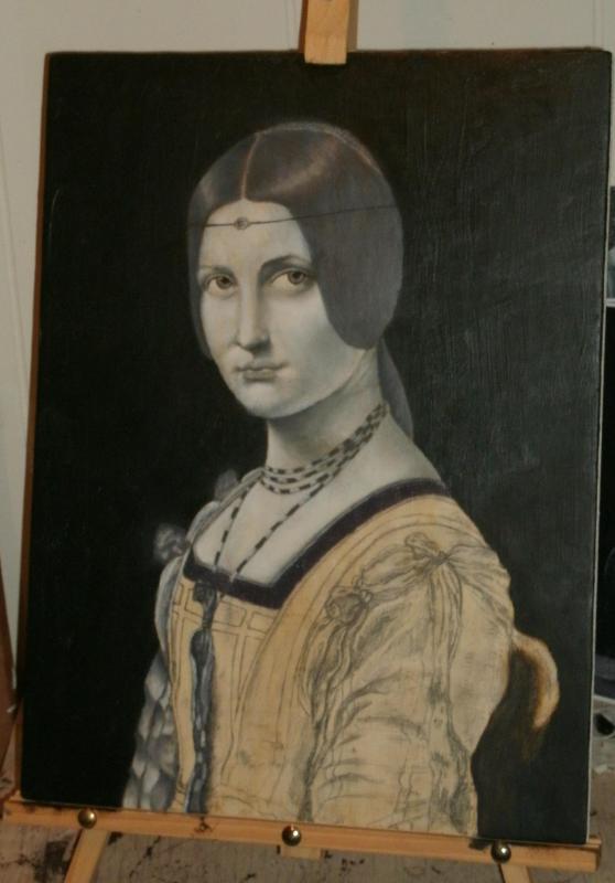 La Belle Ferroniere repo by Da Vinci by evan3585