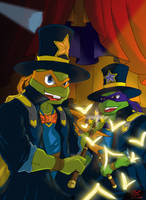[TMNT 2003] Magicians Mike and Don by L4Dragon
