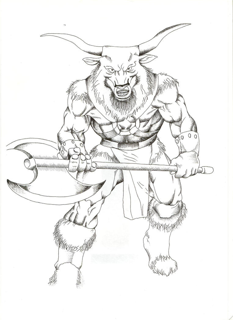 minotaur by zexxx13 on deviantart