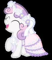 Sweetie Belle in a Dress by RainbowDerp98