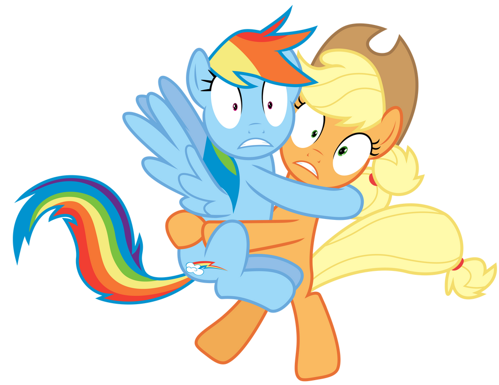 Rainbow Dash and Applejack by SunsetMajka626 on DeviantArt