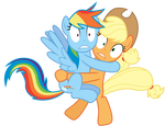 (SPOILERS!) Rainbow Dash and Applejack Spooked