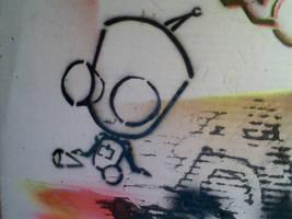 gir robot stencil by katynkitty