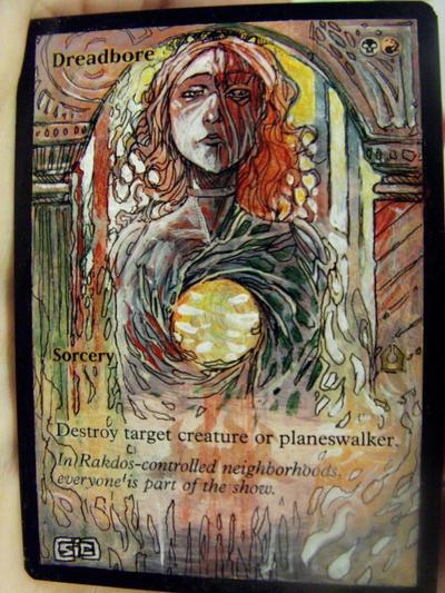 Dreadbore magic the gathering altered art mtg card artwork seesic mtg alter