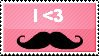 I love mustaches Stamp by TheBaileyMonster