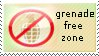 Grenade Free Zone Stamp by TheBaileyMonster